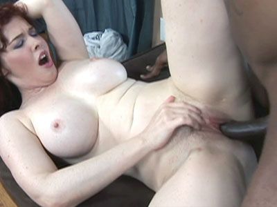 Mature redhead mae victoria is getting her twat pounded with a stiff black penish Mae Victoria.